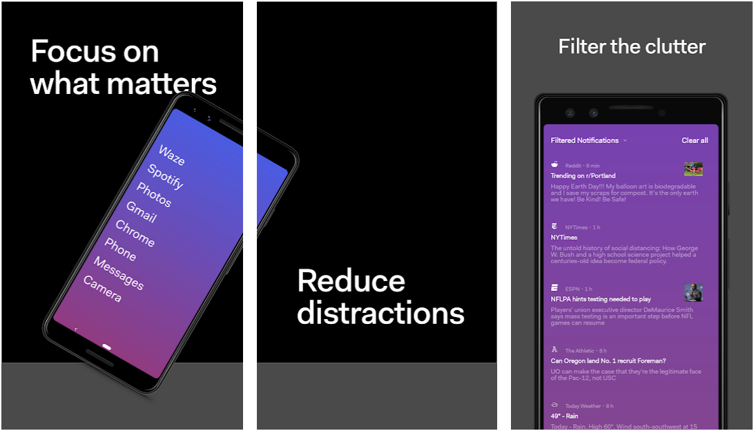 Before - A Minimal Distraction Free Launcher for Android